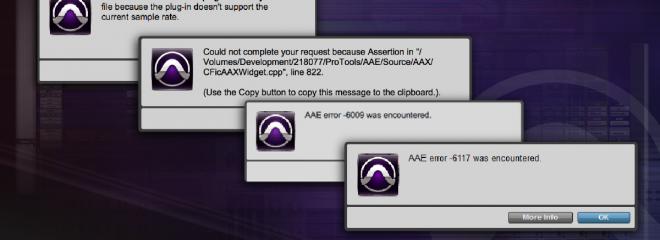 Pro Tools errors